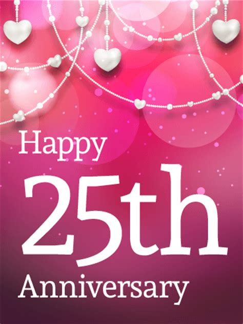 happy 25th anniversary card birthday greeting cards by davia