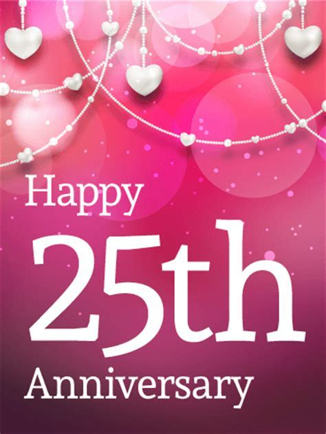 Happy 25th Anniversary Card   Birthday & Greeting Cards by