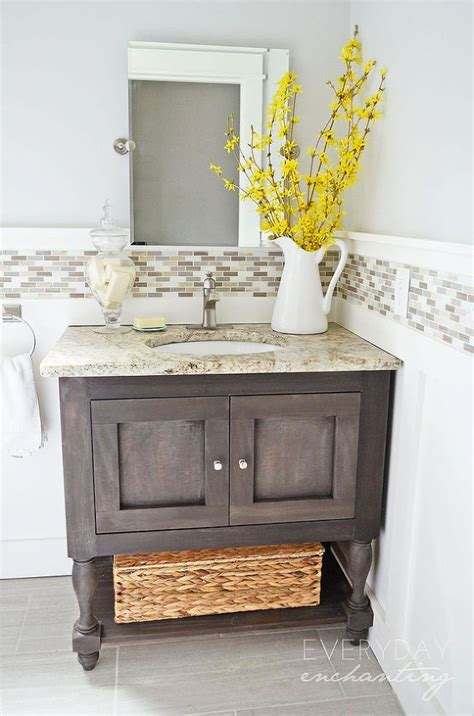 Diy Wood Vanity by Diy Weathered Wood Vanity