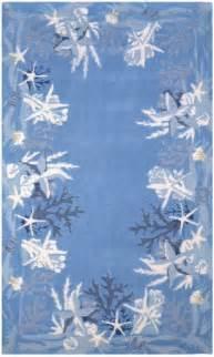 sealife rug blue and white coastal rug nautical decor