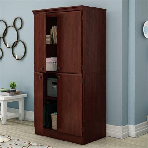south shore morgan storage cabinet south shore morgan storage cabinet in royal cherry 7246971