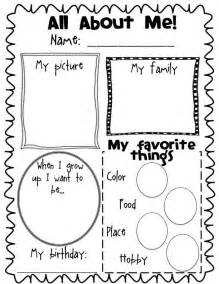 all about me book template 1000 images about all about me activities on