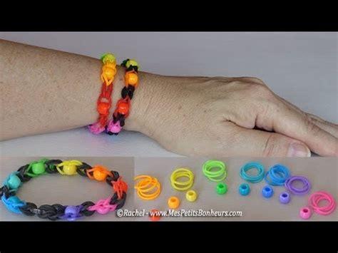 bracelet 233 lastiques avec perles 224 faire avec deux doigts