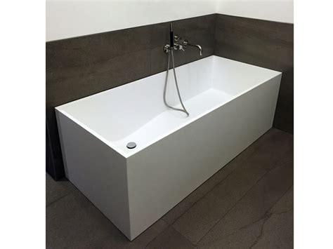 badewanne rechteckig freistehende badewanne firenze aus mineralguss wei 223 matt