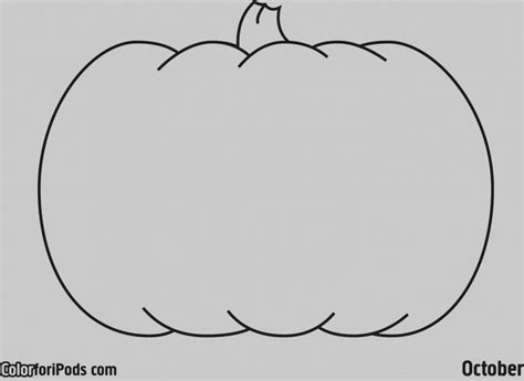 pumpkin coloring template lovely idea blank pumpkin template coloring pages free