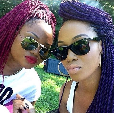 impress with colorful box braids hairstyles blackhairlab