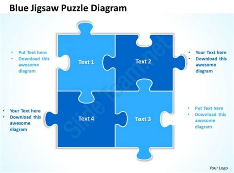 Powerpoint Jigsaw Template 2 Blue Jigsaw Puzzle Diagram Powerpoint Templates Ppt Presentation Slides 0812 Powerpoint Design