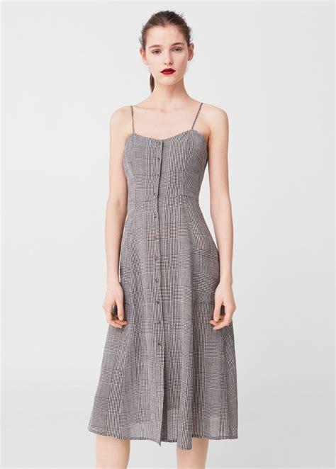 Check Midi Dress check pattern midi dress summer