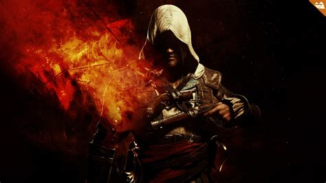 wallpaper black game assassins creed black flag 4 game hd wallpaper