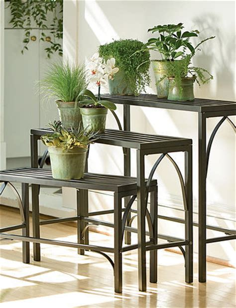 Indoor Plant Table by Plant Stand Trio Plant Stands And