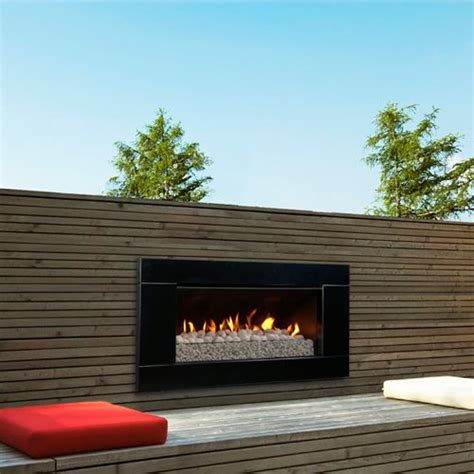 escea ferro black outdoor gas fireplace insert