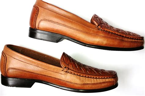 bass shoes for free shipping bass brown leather casual loafers mens