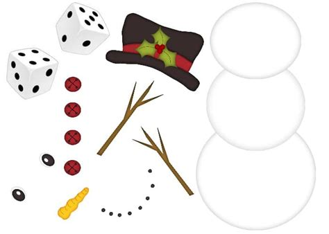 printable snowman dice game snowman dice game family fun for everyone