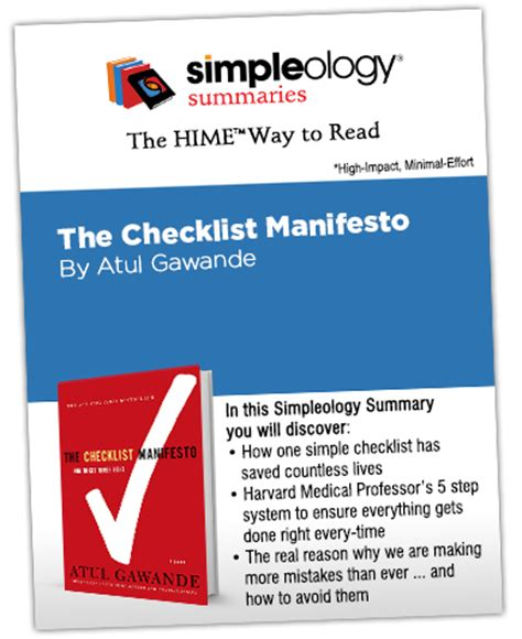 summary the checklist manifesto by atul gawande how to get things right the checklist manifesto how to get things right book paperback hardcover audiobook audible summary book 1 books 3 minute read that can make you millions simpleology