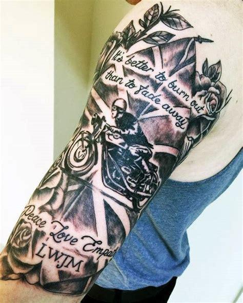 memorial quarter sleeve tattoo 100 memorial tattoos for men timeless tribute design ideas