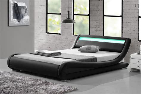 Design Lit by Lit Led Noir Pas Cher Seattle 140x190 Cm Concept Usine