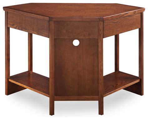Rustic Corner Desk by Rustic Oak And Slate Corner Computer Writing Desk