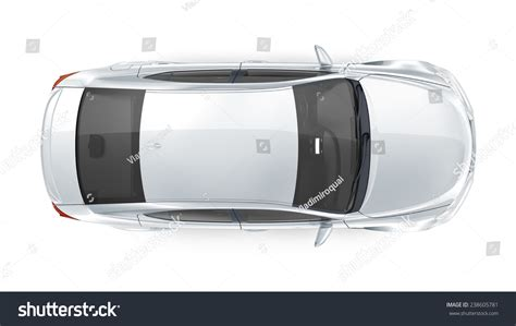 vehicle top view generic silver car top view stock illustration 238605781