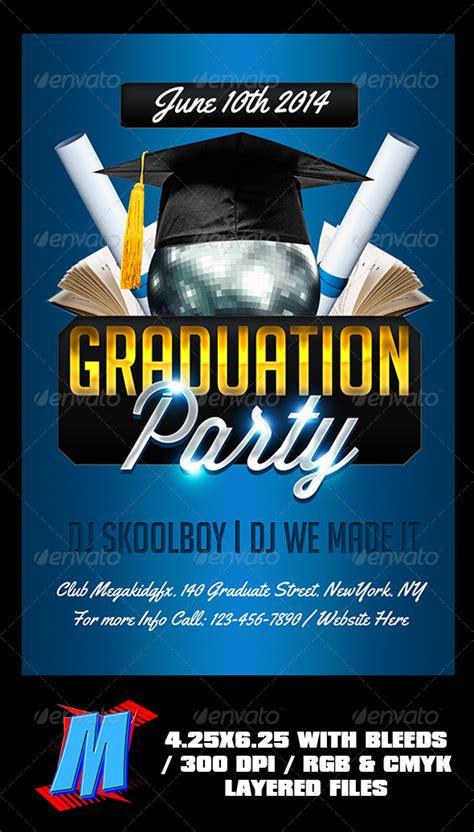 graphicriver free graduation party invitations