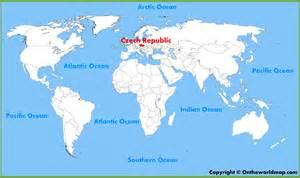 Prague World Map czech republic location on the world map