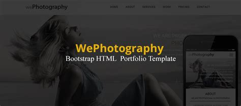 Wephotography Bootstrap Html Portfolio Template Creativecrunk Bootstrap Advertisement Template