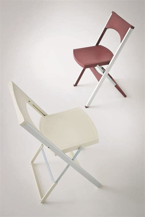 space saving armchair foldable chair in aluminum and polypropylene for external