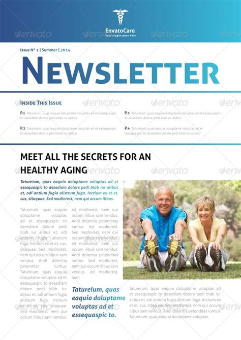 health newsletter templates free newsletter template by carlos fernando graphicriver