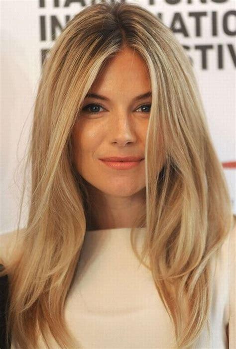 cut blonde hair sienna miller hair style blonde straight hair popular