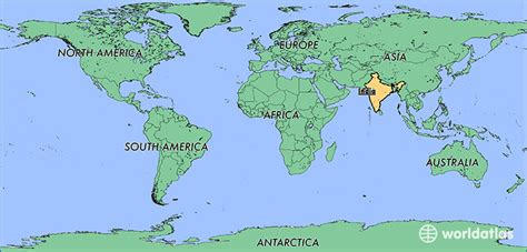 world map image india where is india where is india located in the world