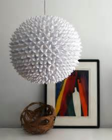 Paper Pendant Light Diy Faceted Pendant Paper Light Shelterness