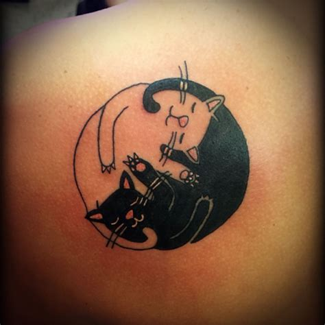 ying yang tattoo designs ying and yang cat design ying yang cat