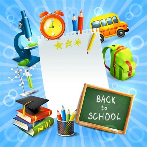Back To School Concept Template Vector Premium Download Back To School Template Free