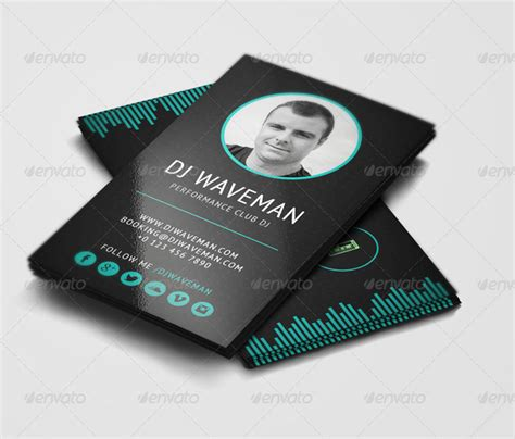 Industry Specific Print Design Templates Dj Business Card Template