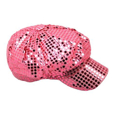 Dance Wall Murals pink sequin newsboy hat