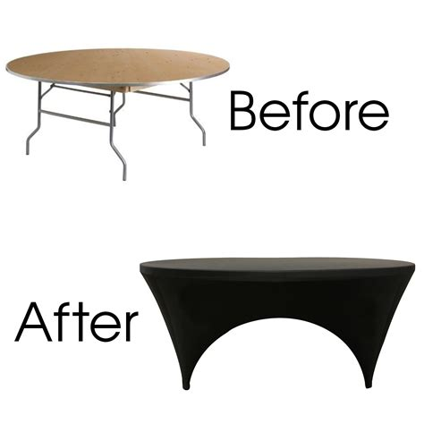 black stretch table covers stretch spandex 6 ft sides open table cover black