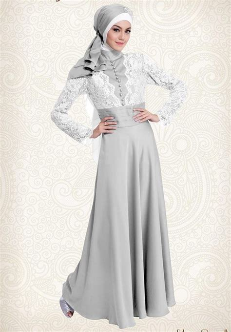Gamis Pesta Kombinasi Warna Silver 1000 images about kebaya muslim on muslim blue wedding dresses and styles