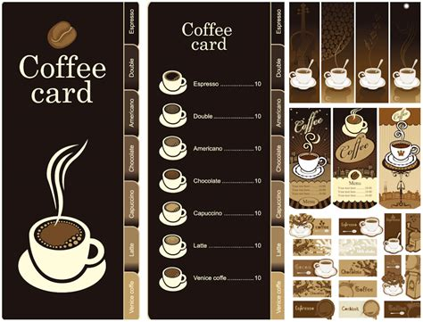 coffee design template menu banner label vector backgroun