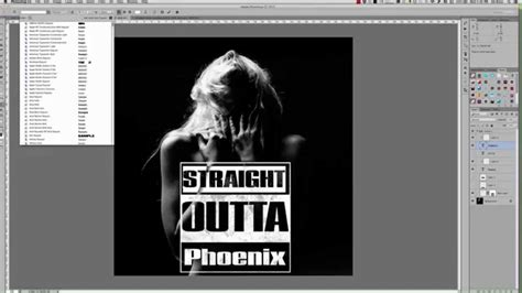 How To Create The Straight Outta Compton Logo Effect In Photoshop Youtube Outta Compton Photoshop Template