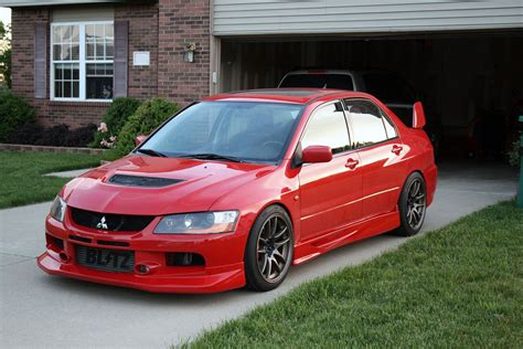 mitsubishi evo red mitsubishi lancer evolution tech voltex aero installation