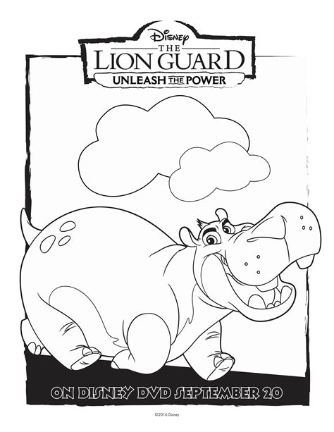lion guard coloring pages printable free disney lion guard beshte coloring page printable