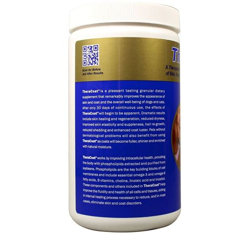 supplement for skin theracoat skin coat supplement for dogs cats 16 oz