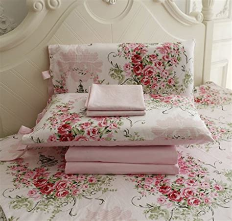 Beglance Cotton Bohemia Bed Sheet free shipping fadfay bed sheets pink floral print