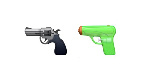 emoji pistol nra loses one as apple replaces revolver emoji with squirt gun