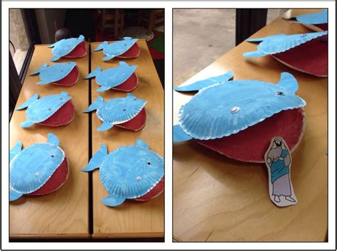 Whale Paper Plate Craft - jonah the whale paper plate craft classroom