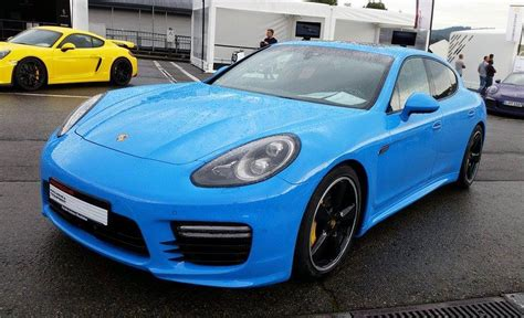 blue porsche panamera porsche panamera exclusive series spotted in blue