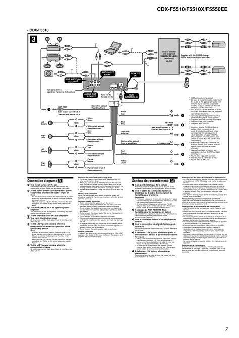 sony cdx wiring diagram pin free wiring