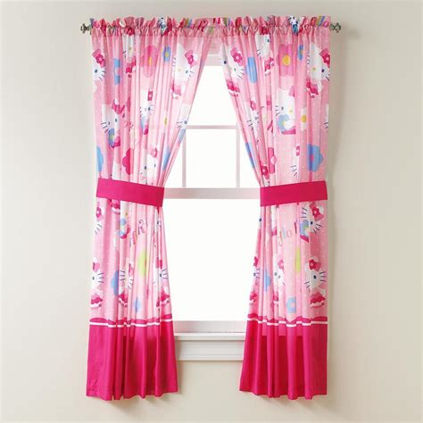 hello kitty drapes new hello kitty curtains window panel pair with tiebacks