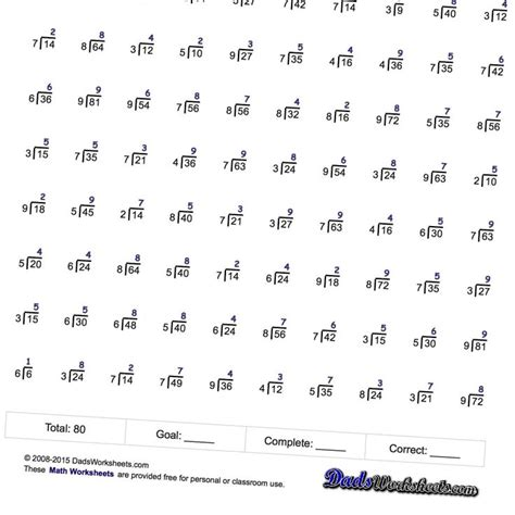 Mad Minute Worksheets