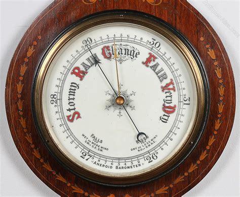 antiques atlas edwardian inlaid rosewood aneroid