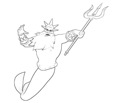 little mermaid king triton coloring pages king triton coloring page coloring home